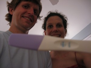 Yes, that is a plus sign! We are overjoyed that Baby #2 will join our wild household at the end of March.