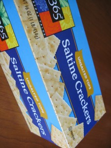 An essential for trimester one. God definitely invented Saltines.